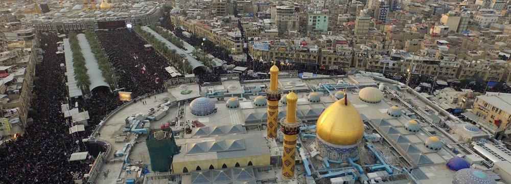 Nearly half of Iran's inbound tourists visit Mashhad and the shrine of Imam Reza (PBUH).