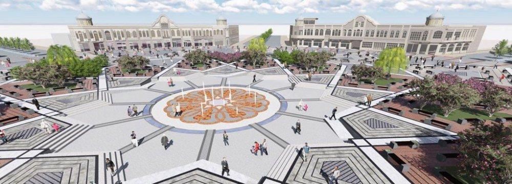 The 3D model of Hamedan's walkway