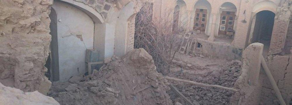 Quake Damages Kerman Historical Structures