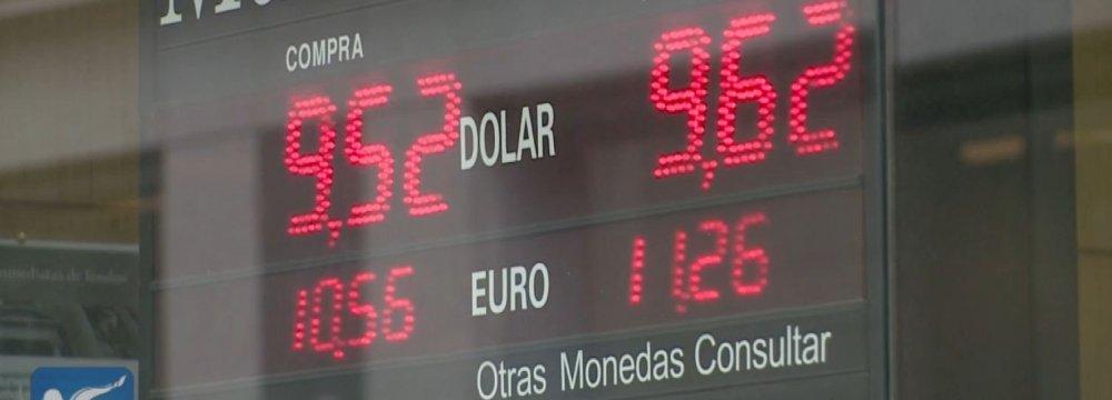 Argentina Bolsters Peso