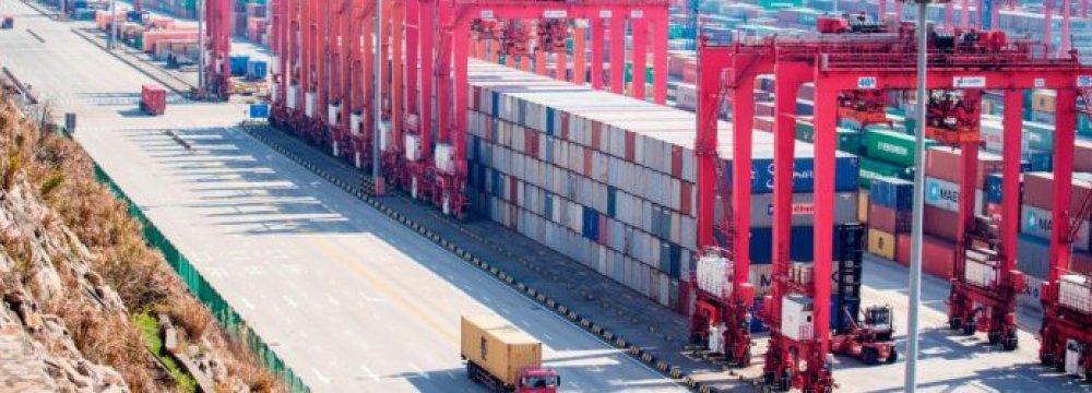 China Trade Surplus Shrinks