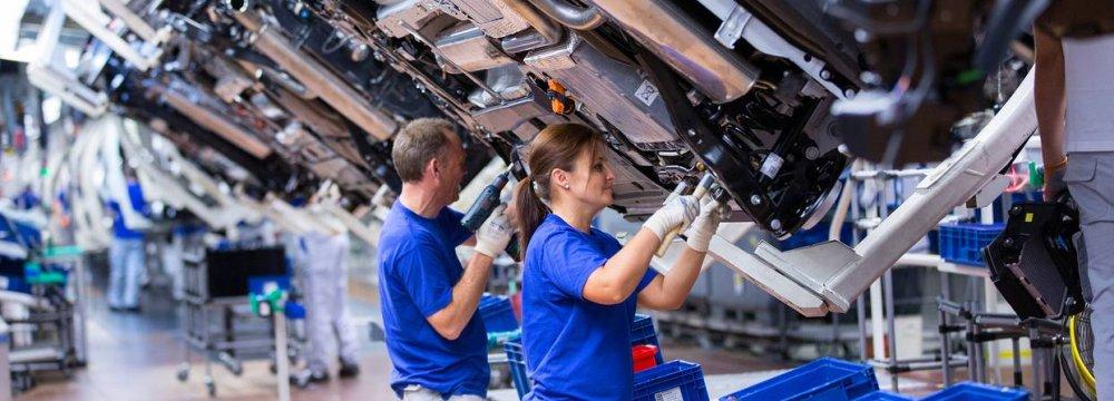 Eurozone Factory Output Slows