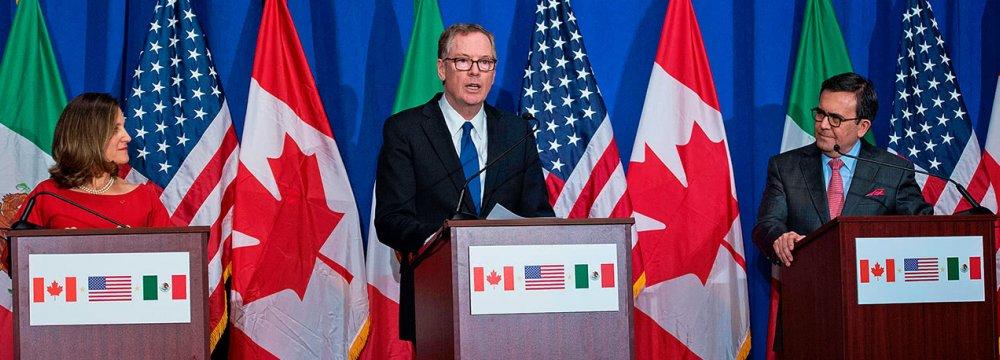 Few Signs of Progress in NAFTA Talks