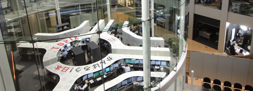 Inside view of Tokyo Stock Exchange
