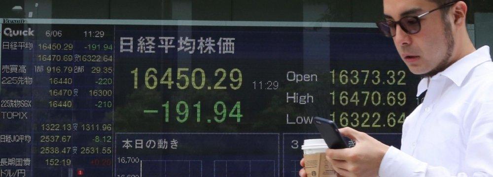 Global Stocks Up Amid Upbeat Data