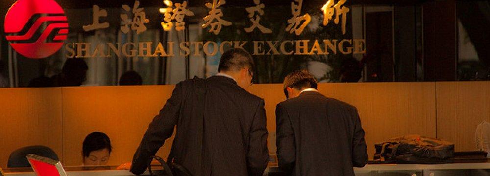 The Shanghai Composite Index rose 0.8%.
