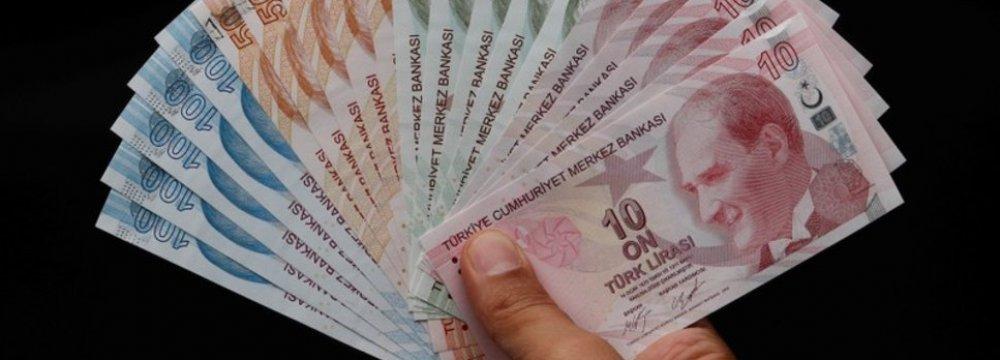 Lira Eases Against Dollar