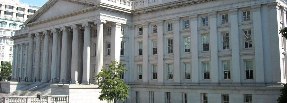 The treasury department in Washington