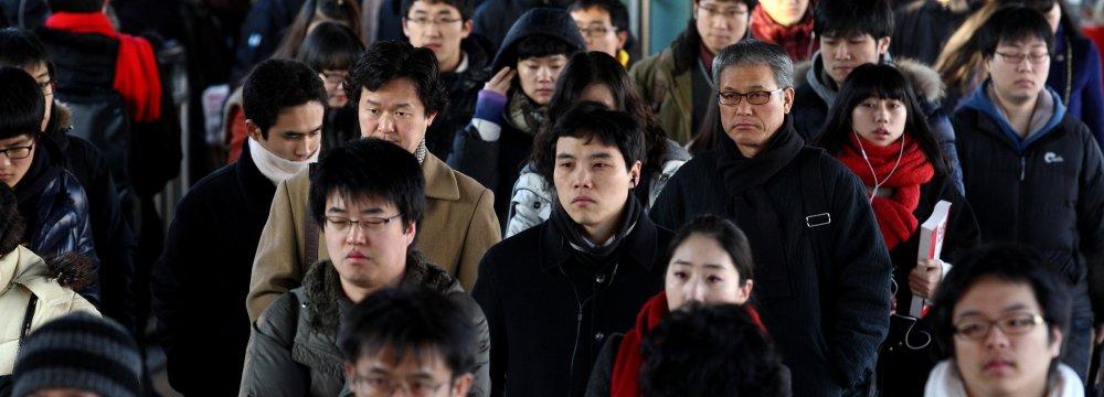 South Korea Worried as Household Income Sags