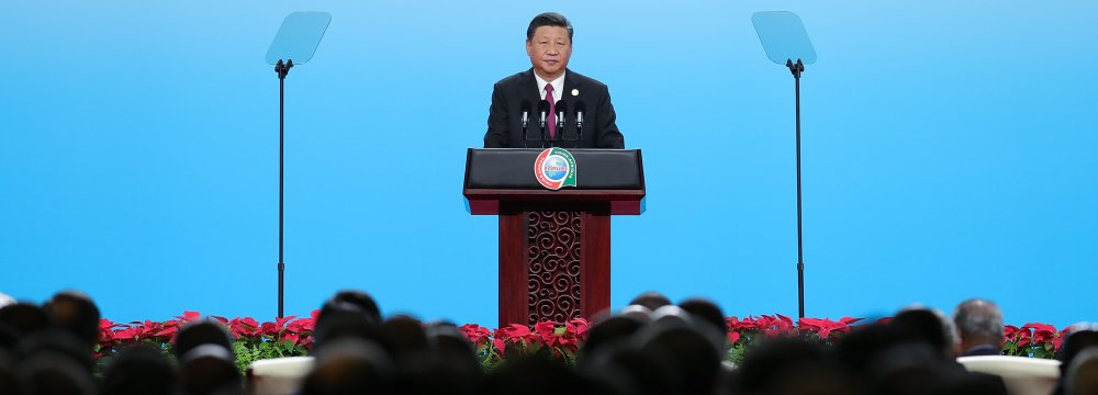 "Xi told African leaders that their participation in the Belt and Road Initiative would bring ""win-win outcomes""."