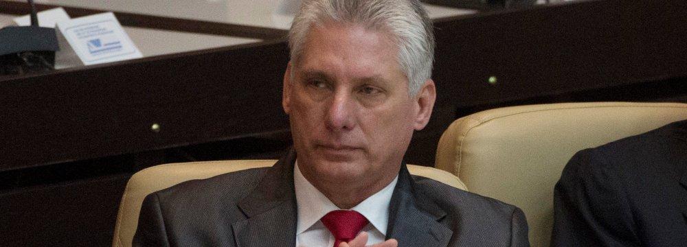 Cuba President Calls for Belt Tightening