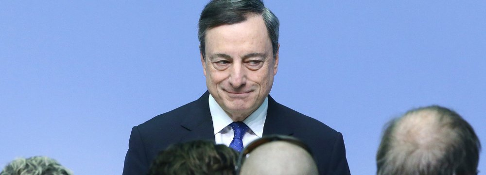 Mario Draghi, president of the ECB, was unusually direct in rebutting opposition to European free trade and political unity.