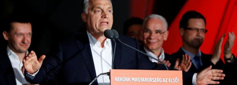 Prime Minister Viktor Orban won a third successive  term last month.