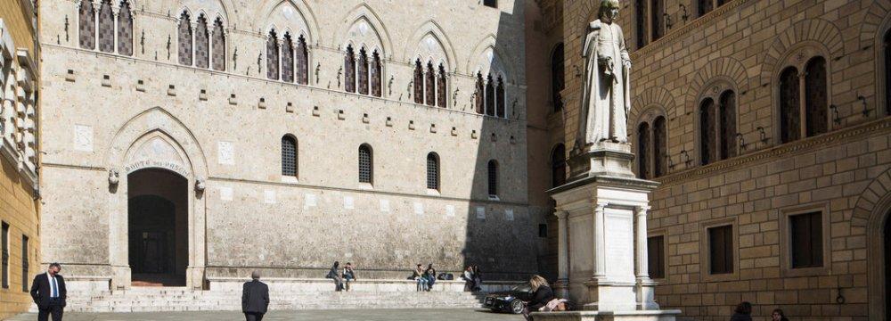 The headquarters of Banca Monte dei Paschi di Siena SpA