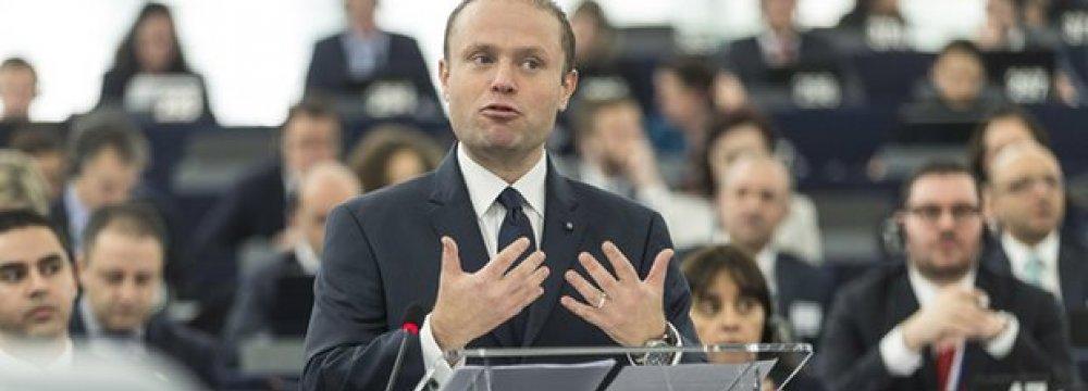Malta PM Says Economy Improving