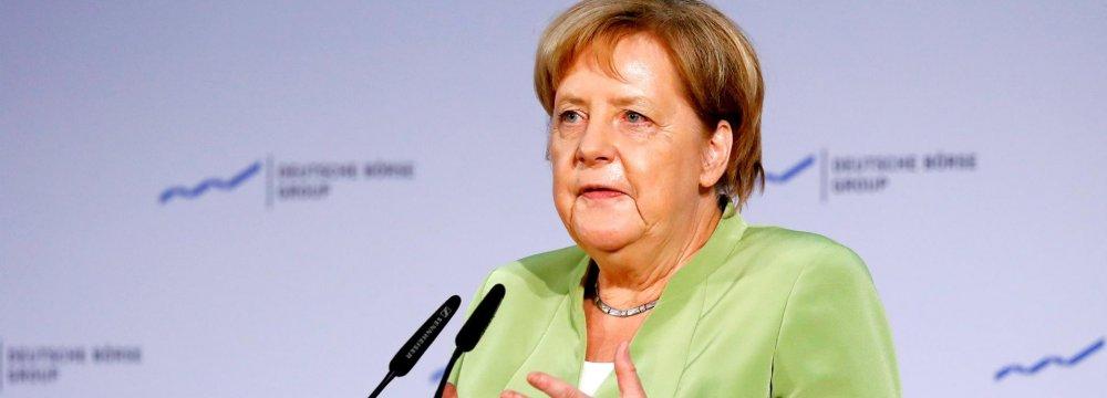 Merkel Supports  Turkey Coop