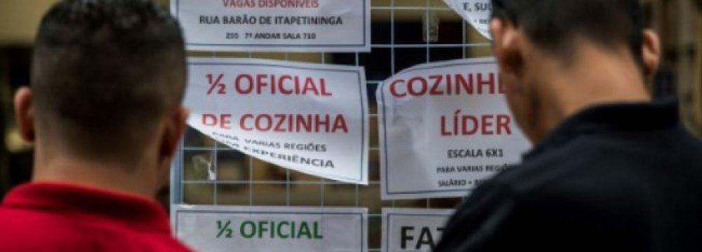 Over 27 Million Brazilians Unemployed, Under-Employed