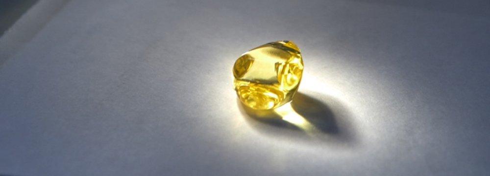 Russia Mines 34.17-Carat Yellow Diamond