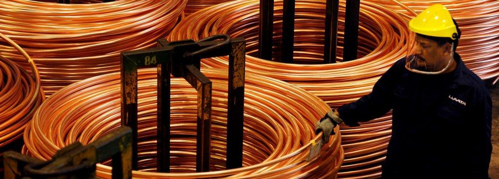 Shanghai Copper at 2-Month Peak