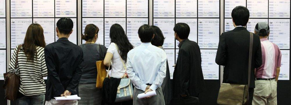 South Korea Job Situation Worsens