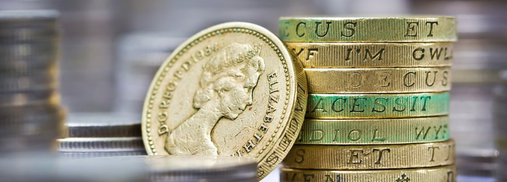 Sterling Falls  to 1-Month Low