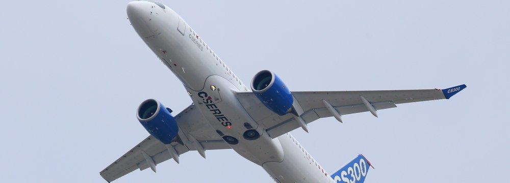 US Slaps 220% Import Duties on Bombardier Jet