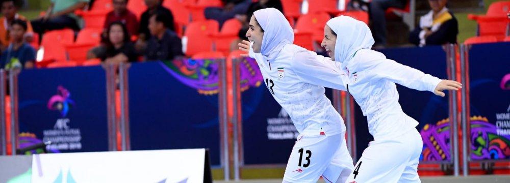 Fatemeh Etedadi (No. 13) has scored 9 goals in the tournament.