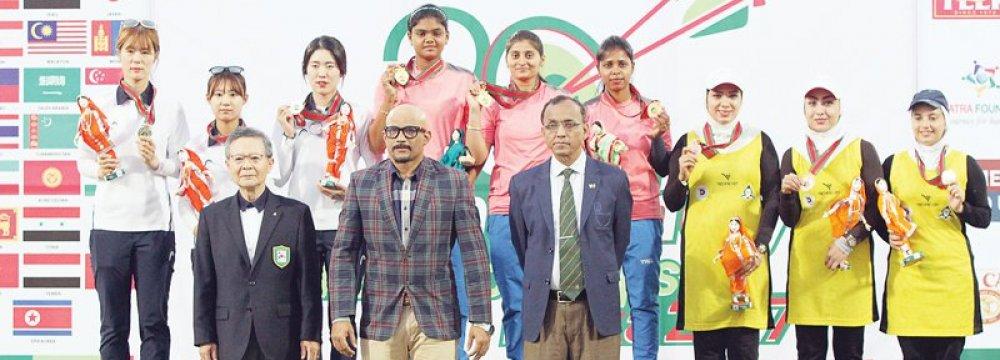Asia Bronze for Iran Women Archery Team