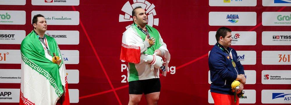 Salimi Wins 3rd Gold