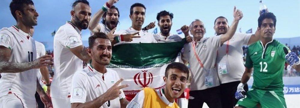 Iran national soccer beach team