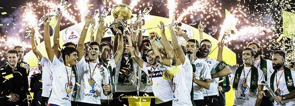 Pars Jonubi won the national league trophy, October 12