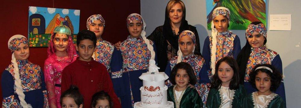 Behnoush Foroutan and the artist children