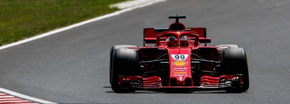 Ferrari's Giovinazzi Tops F1 Test in Hungary