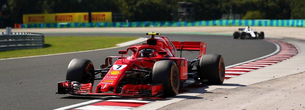 Kimi Raikkonen replaced Day One's pace-setter Antonio Giovinazzi on Wednesday.