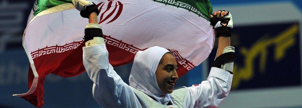 Kimia Alizadeh Selected Flag-Bearer in Asian Games