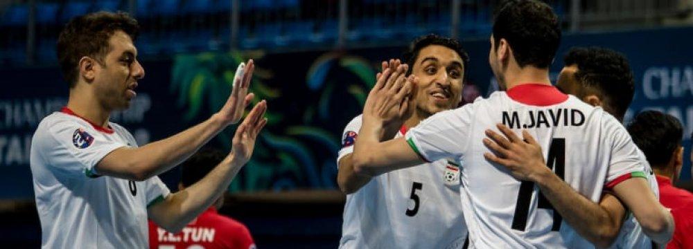 Iran Hammers Myanmar 14-0  in AFC Futsal Championships
