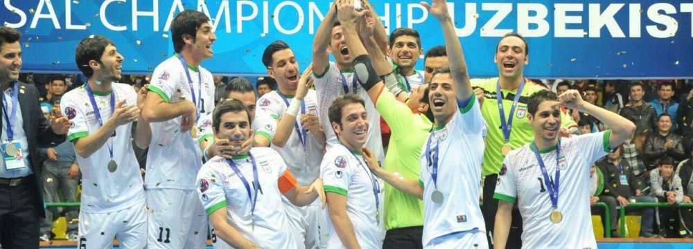 Iran futsal team won the 11th AFC title in Uzbekistan  AFC Championships, 2016.