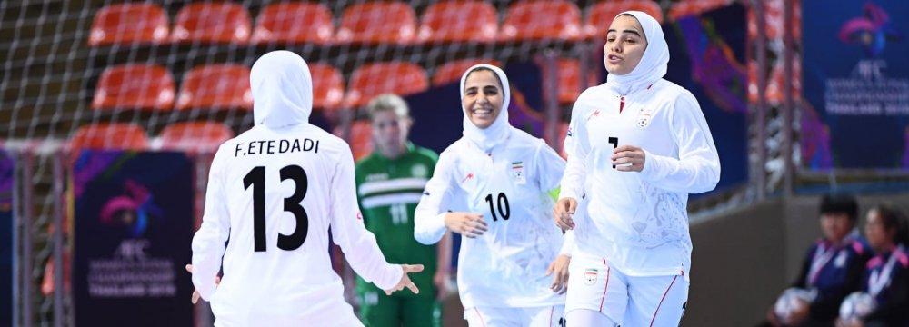 Iran hammered Turkmenistan 14-0.