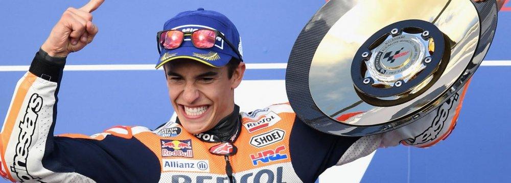 Marquez Closer to World MotoGP Title