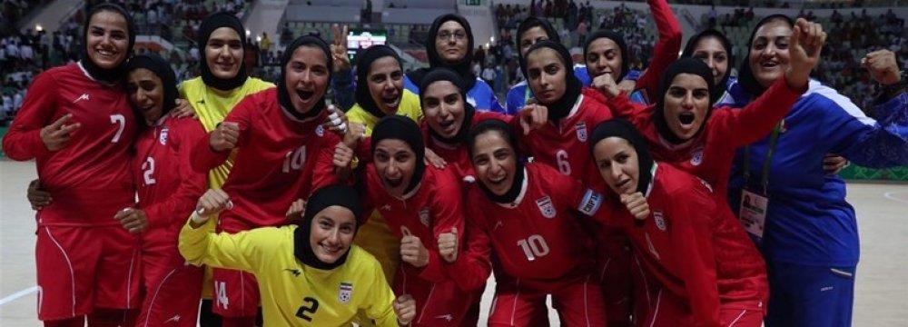 Iranian women futsal team finished third.