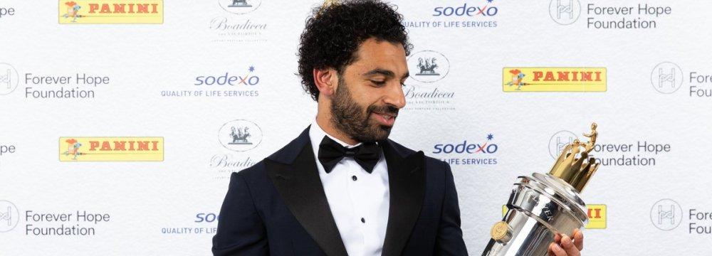 Egyptian Salah, Germany's Sane Win Player of Year Awards