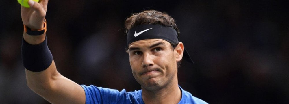 Nadal Withdraws From World Tennis Championships