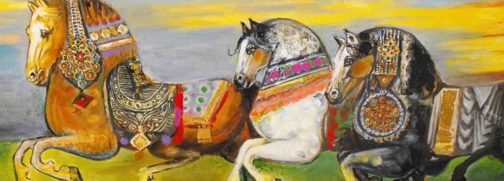 An artwork by Nasser Ovissi