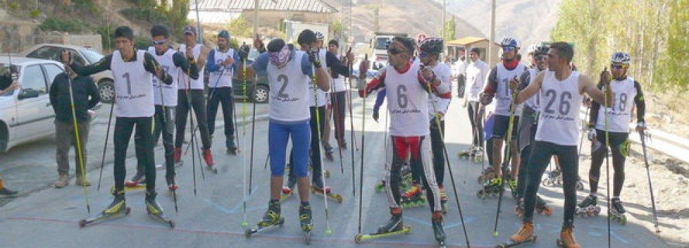 Tehran Hosts Int'l Roller Skiing Event