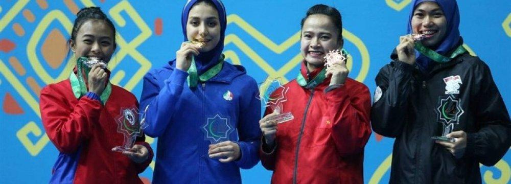 Salahshouri Wins Gold  at AIMAG Taekwondo