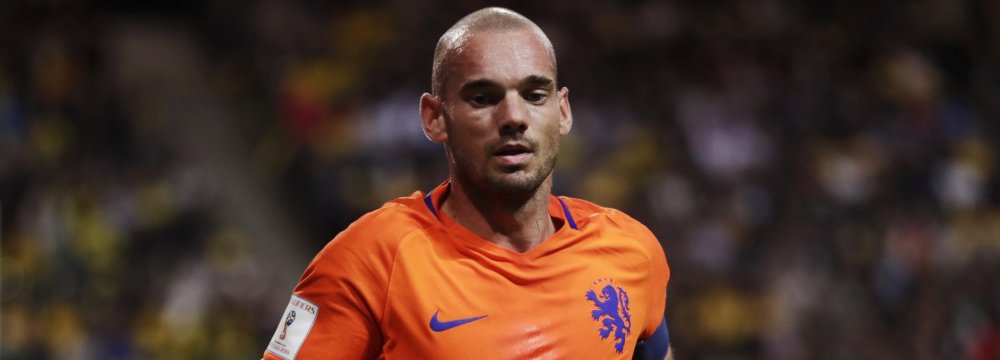 Wesley Sneijder in national jersey