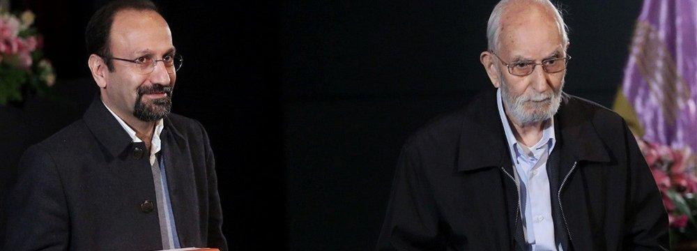 Asghar Farhadi (L) and Mohammad Ali Movahed