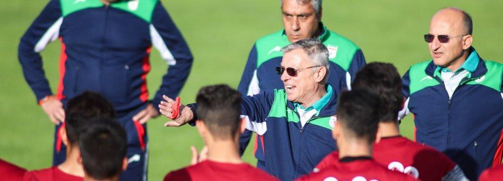 U23 Football Team to Play Last Friendly Against China