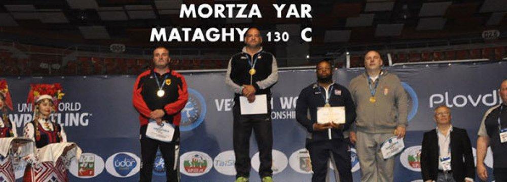 7 Gold, 5 Bronze for Veteran Wrestling Champs