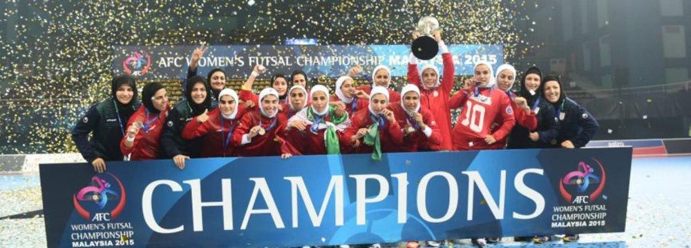 Iran Women Futsal Team Learns About Rivals